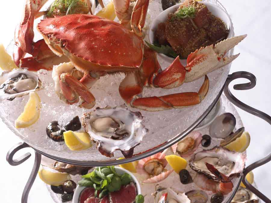 Blue Water Cafe + Raw Bar Image Gallery | Seafood Tower
