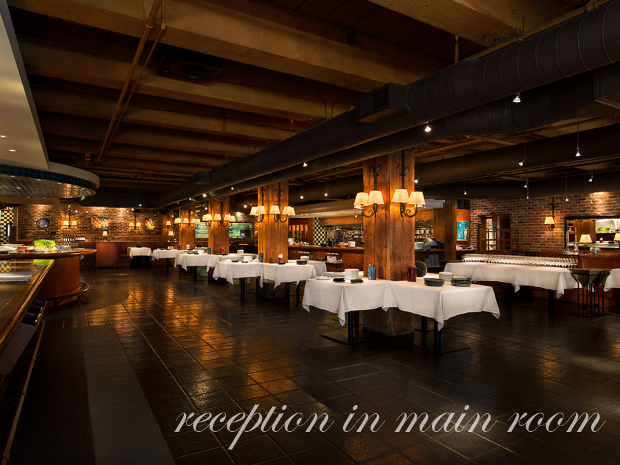 Blue Water Cafe + Raw Bar Rooms | Reception